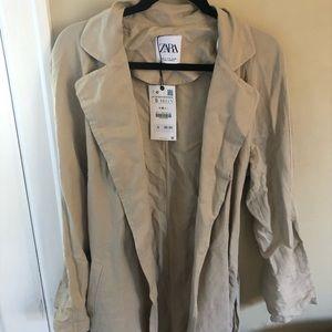 Zara • Linen Trench Coat